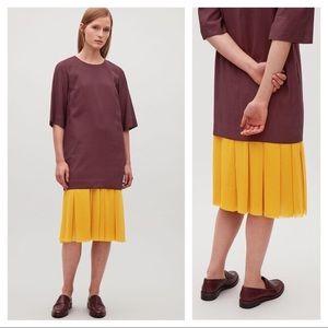 COS Midi Dress Tunic with Pleated Hem